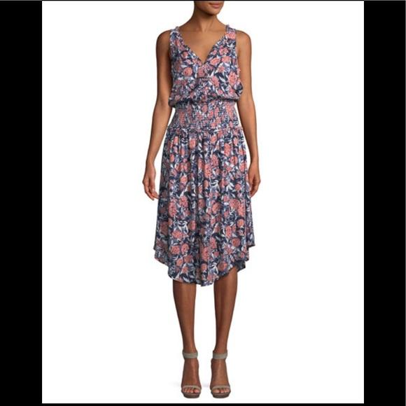 4238e4acea Splendid Encore floral smocked waist dress NWT